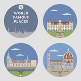 World famous places. Set 4 Royalty Free Stock Photo
