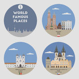 World famous places. Set 1 Stock Image
