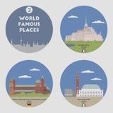 World famous places. Set 3 Stock Photos