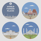 World famous places. Set 6 Royalty Free Stock Photo