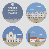 World famous places. Set 10 Royalty Free Stock Image
