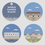 World famous places. Set 12 Royalty Free Stock Photography