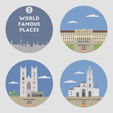 World famous places. Set 9 Royalty Free Stock Photo