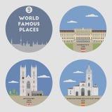 World famous places. Set 9 Royalty Free Stock Photo
