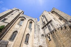 Popes Palace in Avignon, France. World famous popes palace in Avignon, France Royalty Free Stock Image