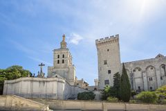 Popes Palace in Avignon, France. World famous popes palace in Avignon, France Royalty Free Stock Photography