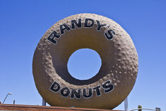 World Famous Randys Donuts. Next to Interstate 405 in Los Angeles royalty free stock photography