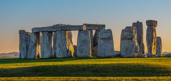 World famous rocks of Stonehenge in England royalty free stock photography