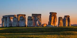 World famous rocks of Stonehenge in England stock photos