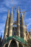 World famous Sagrada Familia in winter Royalty Free Stock Images