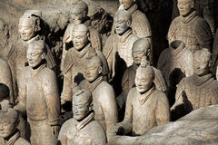 World famous Terracotta Army located in Xian China Stock Images