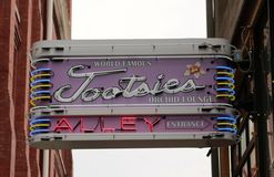 The World Famous Tootsies Orchid Lounge, Downtown Nashville Tennessee Stock Image