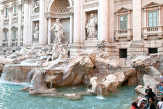 World famous Trevi Fountains in Rome III. Stock Photos