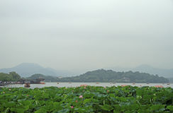The world famous West lake in Hangzhou. China Stock Photography