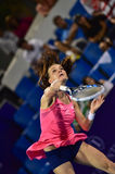 World female Tennis player Aginieszka Radwanska Royalty Free Stock Images