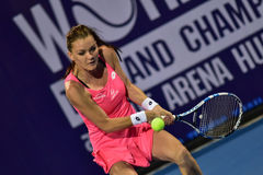 World female Tennis player Aginieszka Radwanska Royalty Free Stock Photography