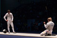 World Fencing Championship 2006 Baldini vs Joppich Stock Photos