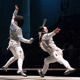 World Fencing Championship 2006 - Granbassi. World Fencing Championship, Torino 2006 (Italy Royalty Free Stock Image