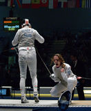 World Fencing Championship 2006 - Vezzali stock images