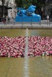 The World Festival of Roses on Place de la Republique in Lyon Royalty Free Stock Photo