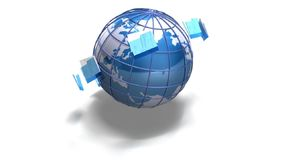 World file transfer stock footage