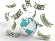 World Finance. Taxes & finance concept image. White background Royalty Free Stock Photos