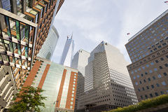 World Financial Center, New York. World Financial Center in New York with the One World Trade Center in the background stock photography