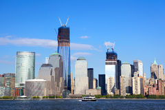 World Financial Center Skyline in Manhattan Stock Photo