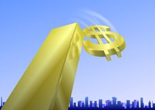 World Financial crisis_2. An illustration of World Financial crisis - falling_dollar Stock Photography