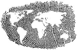 World Fingerprint Royalty Free Stock Photo