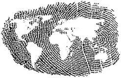 World Fingerprint. World Map represented in a Fingerprint Royalty Free Stock Photo