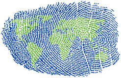 World Fingerprint Stock Images