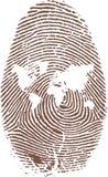 World fingerprint map stock illustration