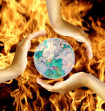 World in fire Royalty Free Stock Photos