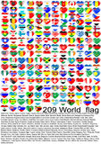 World_flag Stockbild