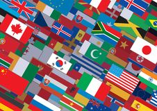 World Flag Background Ready for Your Text & Design Stock Photos
