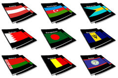 World flag book collection 03 Royalty Free Stock Photo