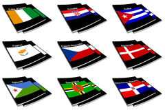 World flag book collection 08 Stock Photos