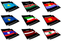 World flag book collection 15 Royalty Free Stock Photos