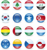World Flag Buttons Stock Photo