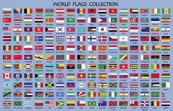 World Flag Collection vector illustration