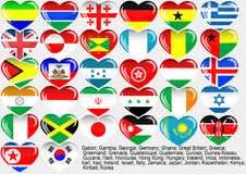 World_flag_EPS10 Lizenzfreie Stockbilder