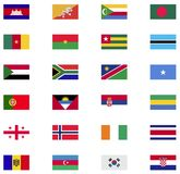 World flag icon collection. Flat icons Royalty Free Stock Photos