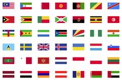 World flag icon collection. Flat icons Royalty Free Stock Photo