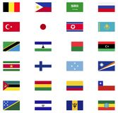 World flag icon collection. Flat icons Stock Images