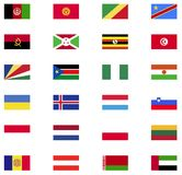 World flag icon collection. Flat icons Royalty Free Stock Photography