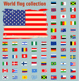 World Flag icon. Vector illustration Stock Photo