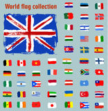 World Flag icon. Vector illustration Stock Images