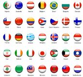 World Flag Icons 01 Stock Photos