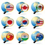 World flag icons Royalty Free Stock Images